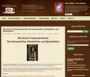 Coffee Talk Writers site features Weeia Series, interview with Elle