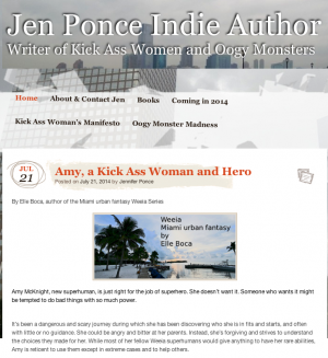 Jen Ponce author site publishes Elle article about Amy
