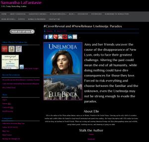 Samantha Lafantasie Paradox spotlight