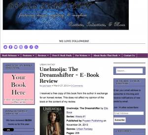 Books that Hook Dreamshifter review