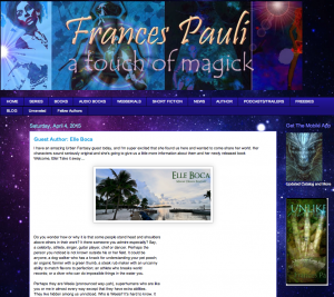 Guest post on Frances Pauli website