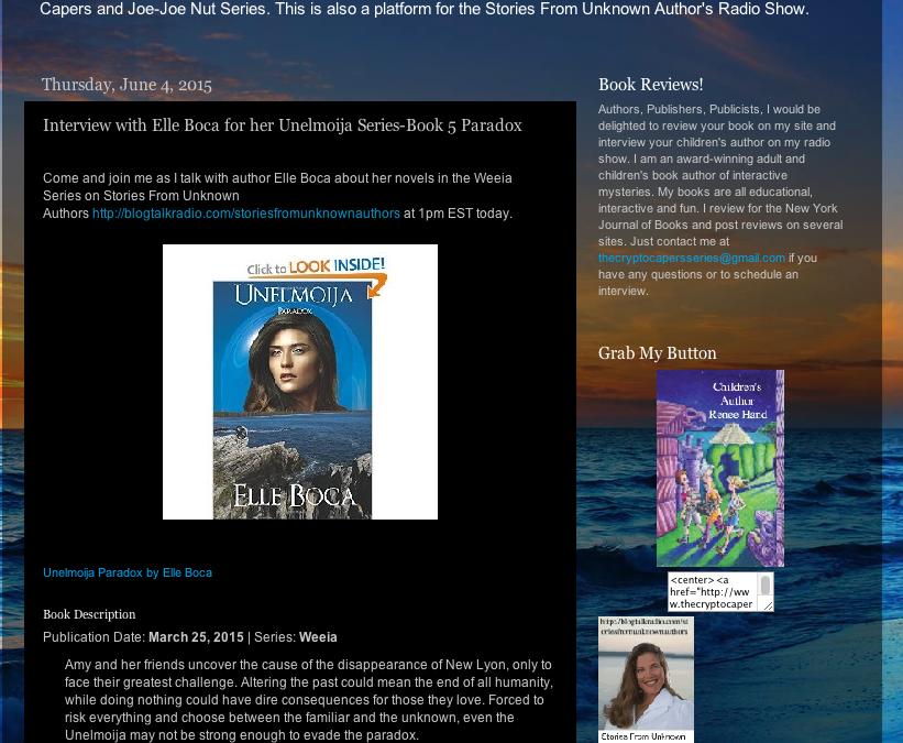 Renee Hand interviews Elle on BlogTalkRadio.com
